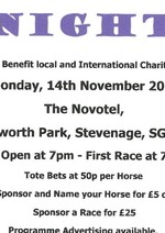 Invitation to Stevenage Race Night