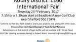 Rotary District 1260 International Fair